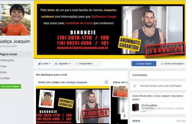 Desesperado, pai paga anúncios no Facebook para achar assassino de seu filho