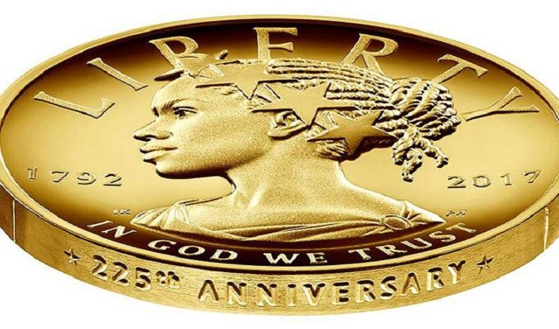 Pela 1ª vez, negra estampa símbolo da liberdade em moeda