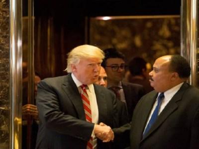 Trump se reúne com filho de Martin Luther King em meio a polêmica