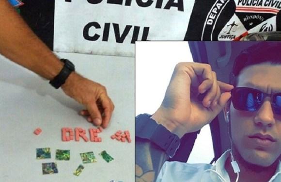 """Denarc prende jovem que abastecia """"Calçada da Fama"""" com ecstasy e LSD em Porto Velho"""