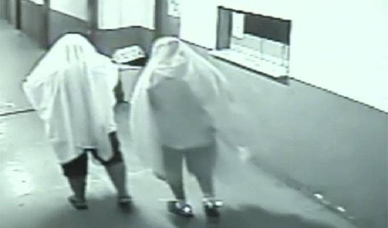 Ex-secretários furtam prefeitura vestidos de fantasma
