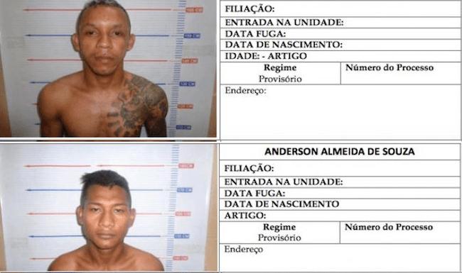 Confira a lista oficial com fotos dos foragidos do presídio em Manaus