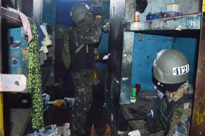Militares apreendem 61 geladeiras e 31 TVs em presídio de Roraima