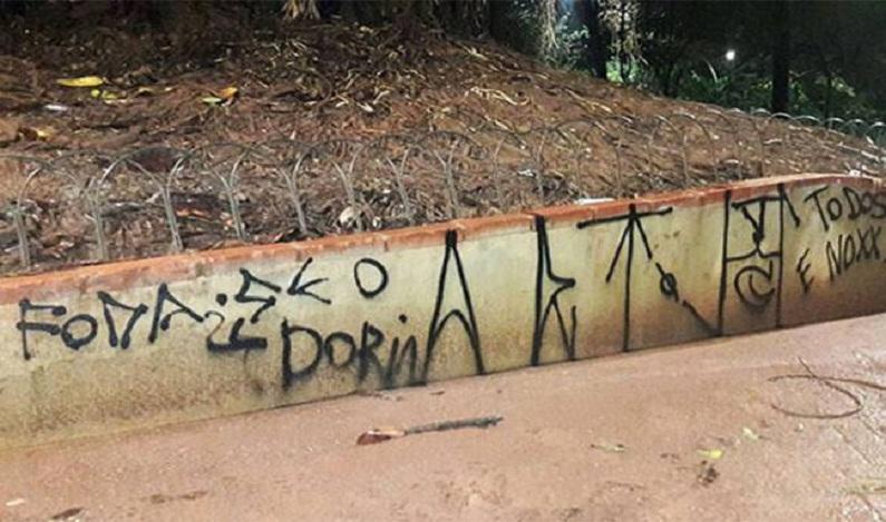 Cinco pessoas são presas por pichações, uma delas contra Doria