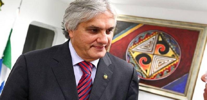 Delcídio do Amaral depõe ao juiz Sérgio Moro em Curitiba