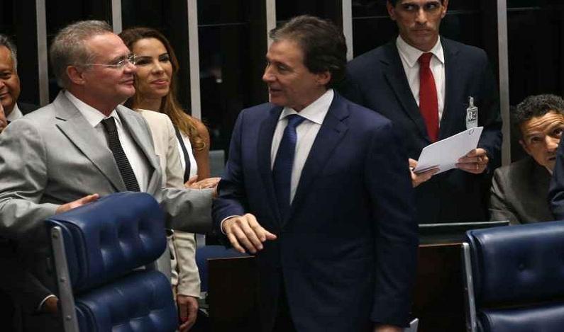 Eunício e Renan defendem candidatos diferentes para CCJ