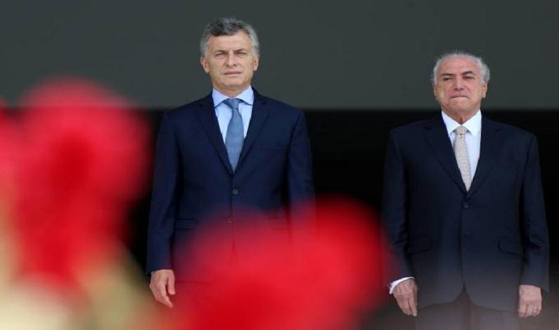 Temer e Macri manifestam preocupação com situação da Venezuela