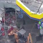 Bandidos usam retroescavadeiras para arrombar caixas eletrônicos em São Gonçalo (RJ)