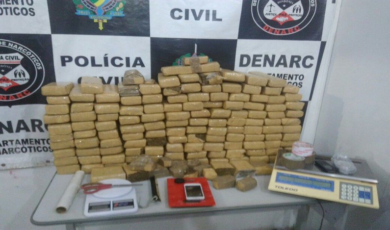 Denarc apreende quase 95 kg de maconha e prende traficantes na Zona Leste de Porto Velho (RO)