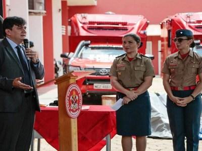 Cleiton Roque participa de entrega de viaturas e equipamentos para Corpo de Bombeiros