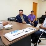 Cleiton Roque recebe dirigentes da Igreja do Evangelho Quadrangular