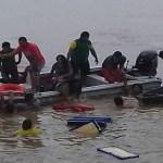 Embarcação com 20 passageiros a bordo naufraga no rio Madeira