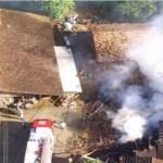 Casa pega fogo e três crianças morrem em Pomerode (SC)