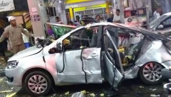 Mulher morre e outros três são feridos em explosão de carro no Rio  vídeo c4e7a1e4aaeee