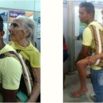 No AC, parente carrega idosa com mais de 80 anos por mais de 3 km nas costas para ela sacar benefício