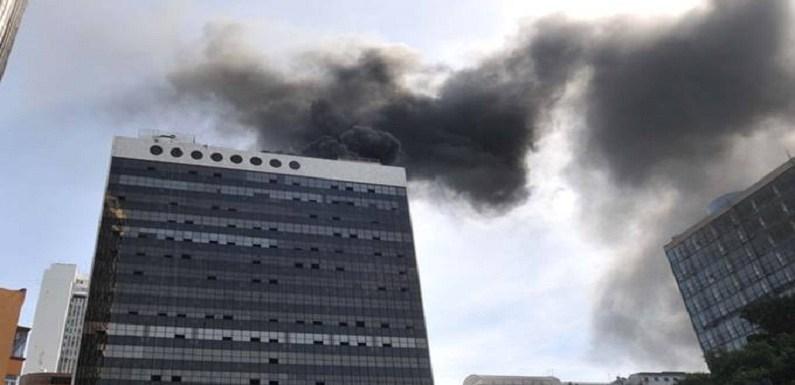 Incêndio atinge prédio do fundo de previdência da Vale no Rio