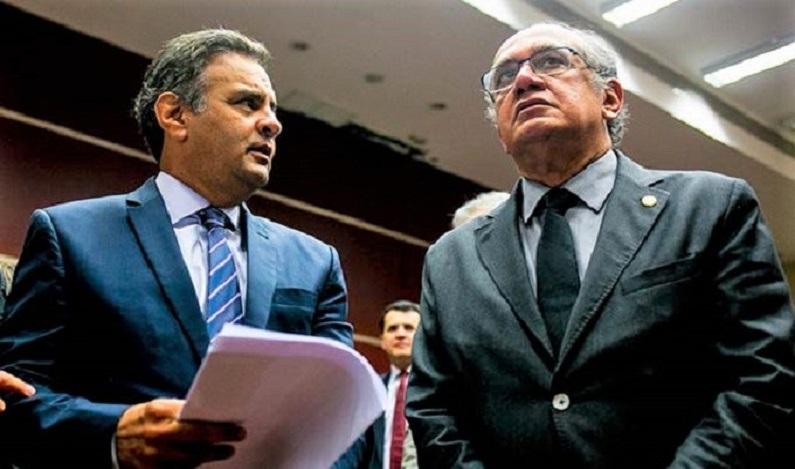 Aécio pediu a Gilmar Mendes para conseguir voto a favor da lei de abuso de autoridade