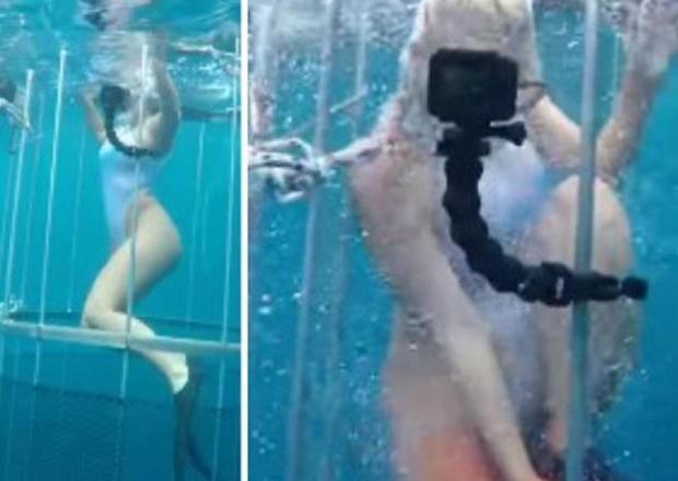 Modelo é atacada por tubarão quando fazia fotos subaquáticas. Levou 20 pontos; veja vídeo