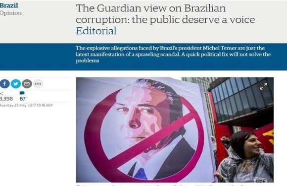Jornal britânico faz editorial pedindo eleição direta no Brasil