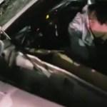 Vídeo mostra motorista de Ferrari com rosto no airbag após acidente em SP
