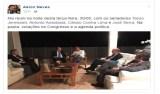 Aécio posta foto de reunião com senadores do PSDB e diz que discute 'votações no Congresso'