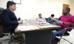 Cleiton Roque recebe prefeito, vereador e secretário de São Felipe e destina emenda de R$ 500 mil