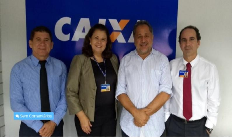 Luiz Cláudio defende na Caixa Econômica, projetos de infraestrutura urbana dos municípios