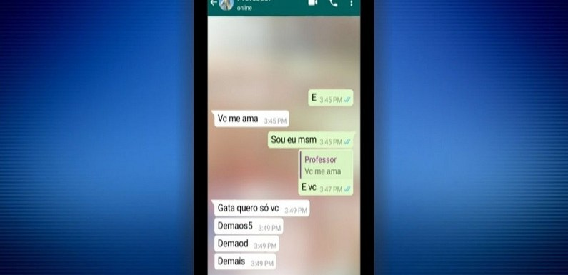 """""""Gata quero só você"""", diz professor em mensagens de assédio para aluna de 10 anos"""