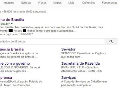 Hackers invadem sites do governo do DF e publicam ataques a Michel Temer