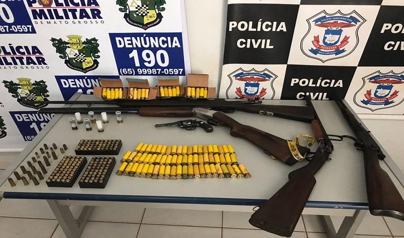 Sargento da PM é preso suspeito de vender armas e munição em MT