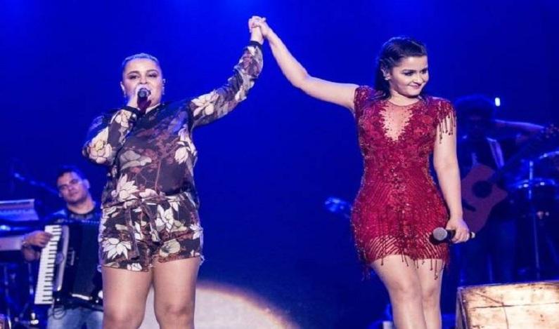 Incêndio em telão interrompe show da dupla Maiara & Maraisa; veja vídeo