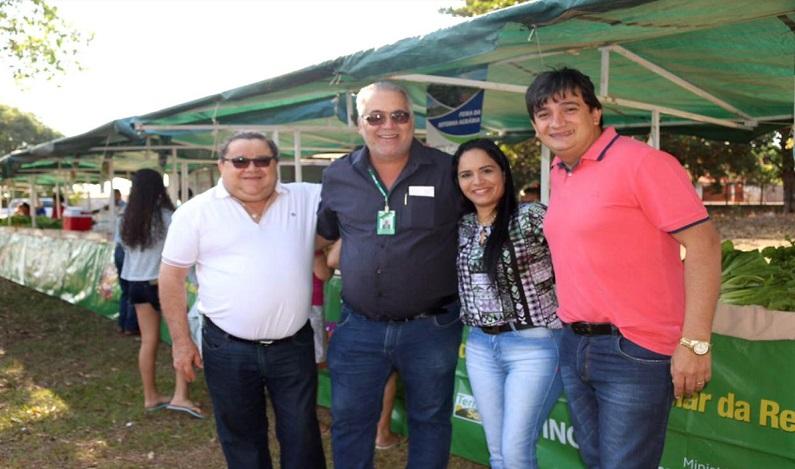 Cleiton Roque participa de inauguração da Feira da Reforma Agrária em Pimenta Bueno