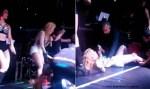 Joelma é derrubada no palco por fã durante show em SP; veja vídeo