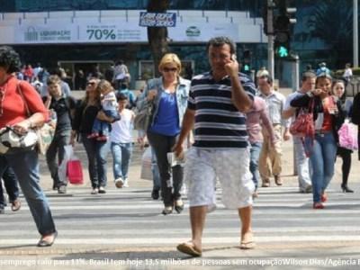 Desemprego cai para 13%, revela pesquisa do IBGE