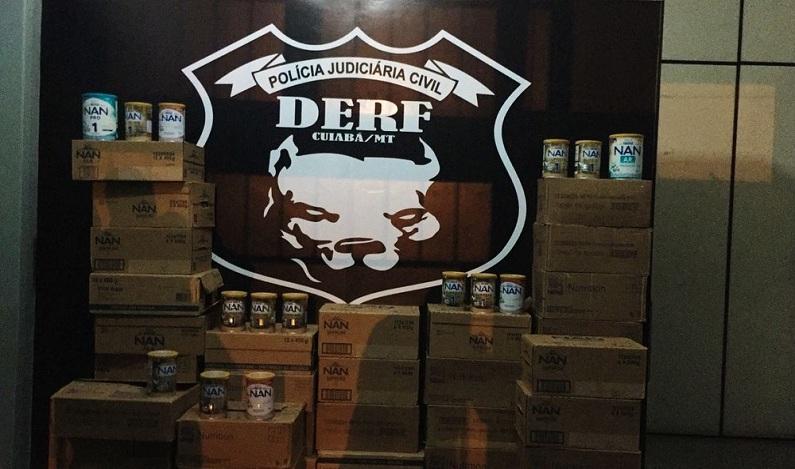 Jovem faz anúncios de venda em rede social e é presa com 329 latas furtadas de leite em pó em MT