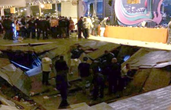 Camarote desaba em show de Ivete Sangalo e deixa 26 feridos