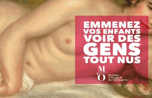 'Tragam seus filhos para ver gente nua': campanha do Museu d'Orsay será retomada em Paris