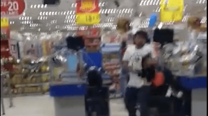Enfurecido, homem destrói supermercado em SP; veja vídeo