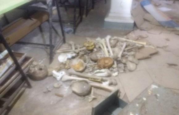 Ossadas são achadas dentro de escola na Paraíba