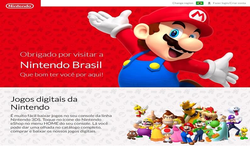 Nintendo reinaugura site oficial no Brasil