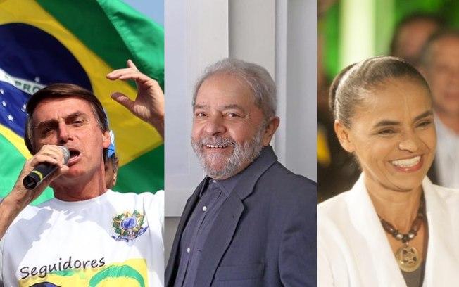 Pesquisa aponta crescimento de Lula e queda de Bolsonaro e Marina