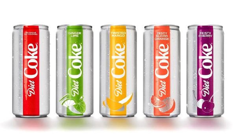 Coca-Cola recria Diet Coke com quatro novos sabores