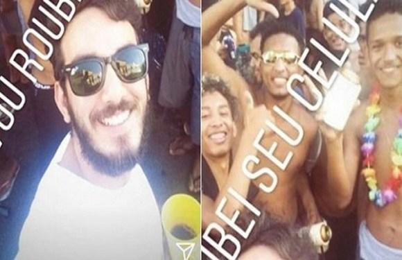 Jovem é demitido após postar foto com comentário racista durante o carnaval