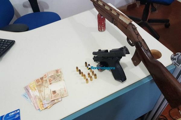 Integrantes de facção criminosa são presos com armas em Porto Velho