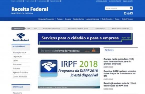 Receita libera consulta ao segundo lote de restituição do IR 2018