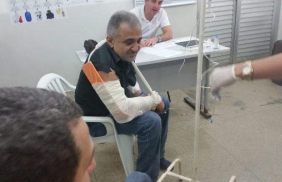 Deputado Hermínio Coelho sofre acidente na BR 364