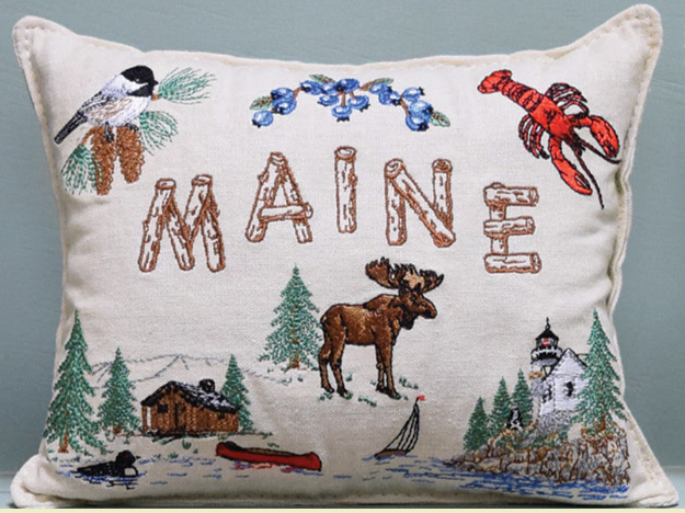 maine scenes balsam filled pillow