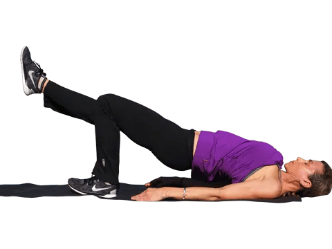 single leg glute bridge exercise