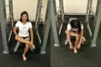Iliotibial band exercise - seated figure-4