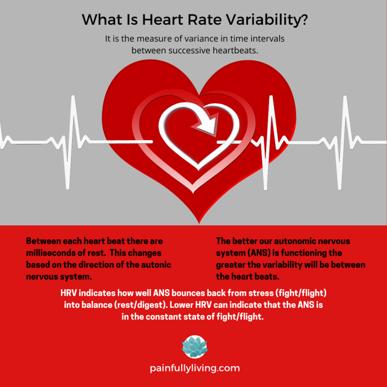 Grey and red background. Grey on the top half features a red heart with white EKG heartbeat lines. WHAT is Heart Rate Variable? is in black font.